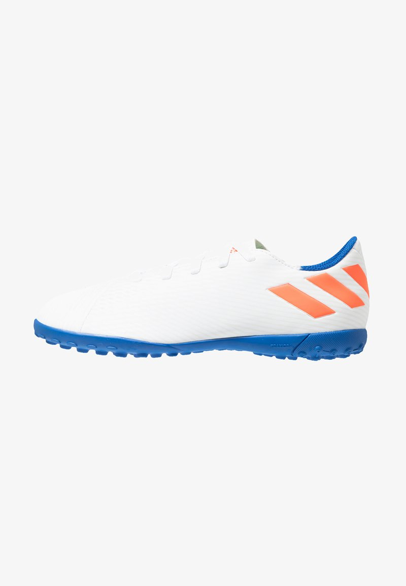 adidas Performance - NEMEZIZ MESSI 19.4 TF - Botas de fútbol multitacos - footwear white/solid red/football blue