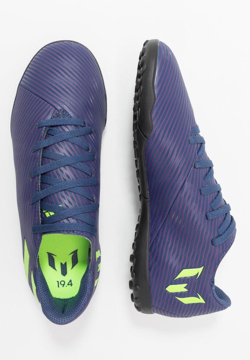 adidas Performance - NEMEZIZ MESSI 19.4 TF - Korki Turfy - tech indigo/signal green/glow purple