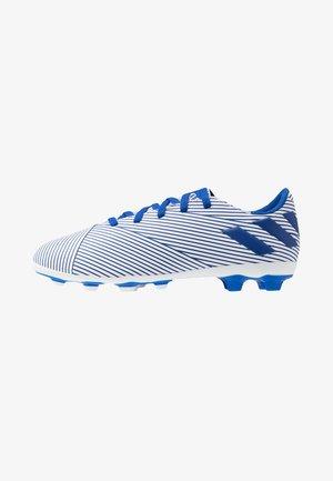 NEMEZIZ 19.4 FXG - Kopačky lisovky - footwear white/royal blue/core black
