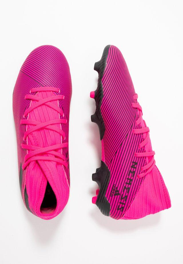 NEMEZIZ 19.3 FG - Moulded stud football boots - shock pink/core black