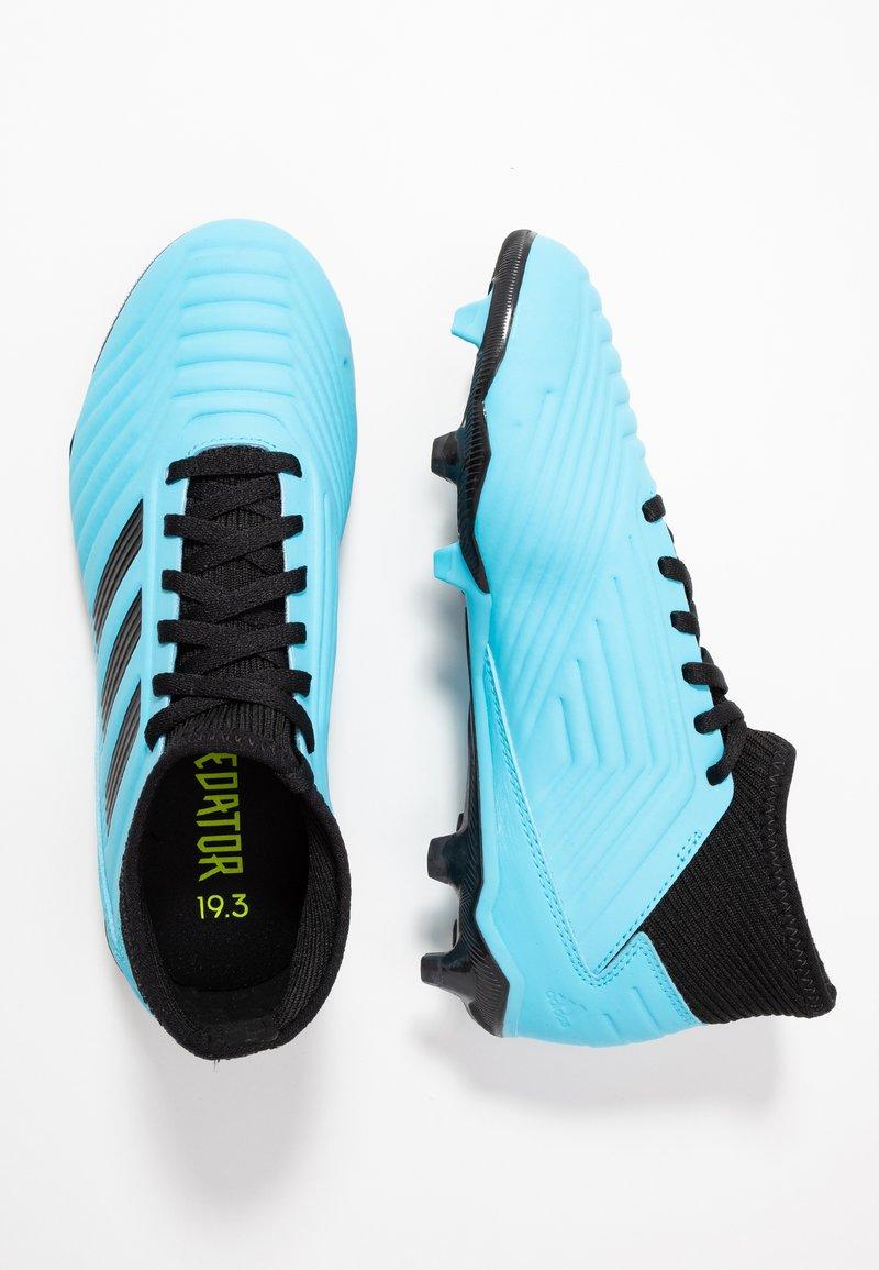 adidas Performance - PREDATOR 19.3 FG - Fußballschuh Nocken - bright cyan/core black/solar yellow