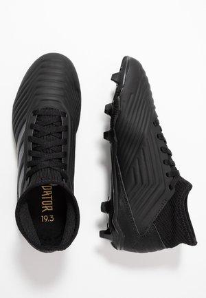 PREDATOR 19.3 FG - Chaussures de foot à crampons - core black/gold metallic