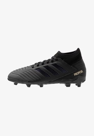 PREDATOR 19.3 FG - Moulded stud football boots - core black/gold metallic