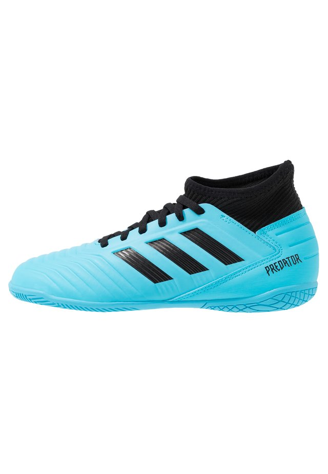PREDATOR 19.3 IN - Indoor football boots - bright cyan/core black/solar yellow