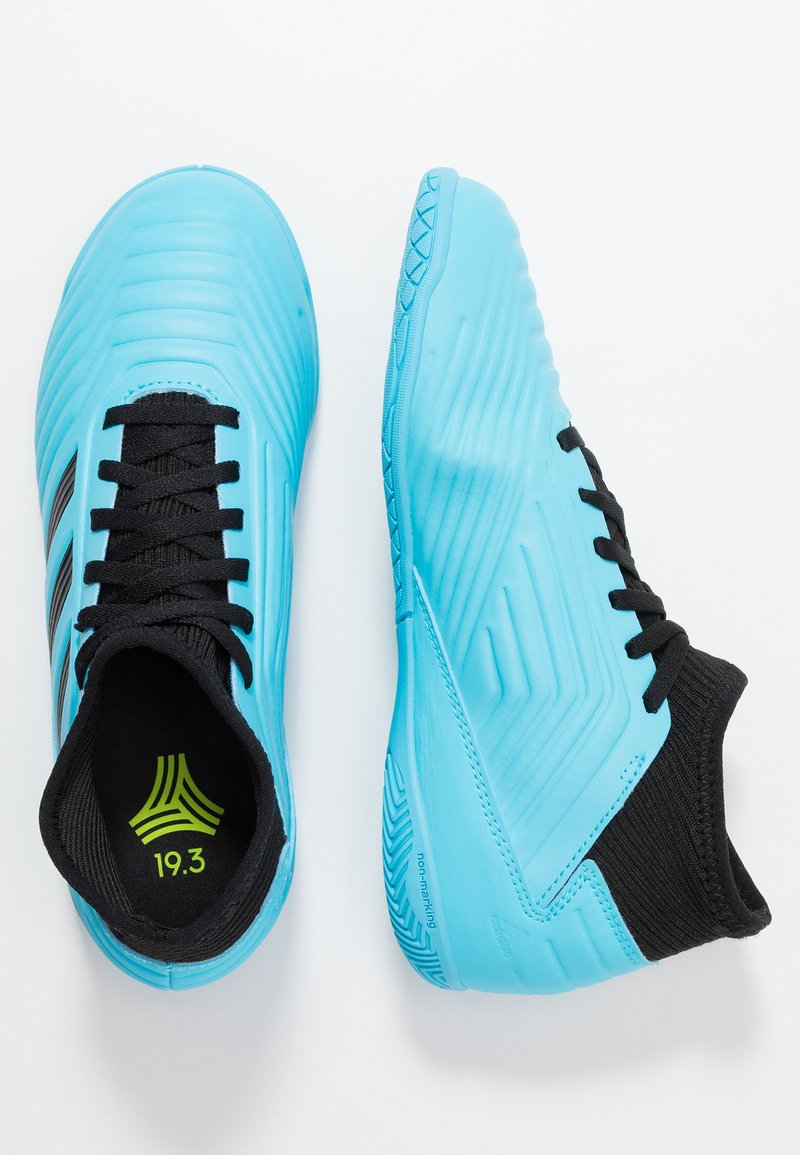 adidas Performance - PREDATOR 19.3 IN - Indoor football boots - bright cyan/core black/solar yellow