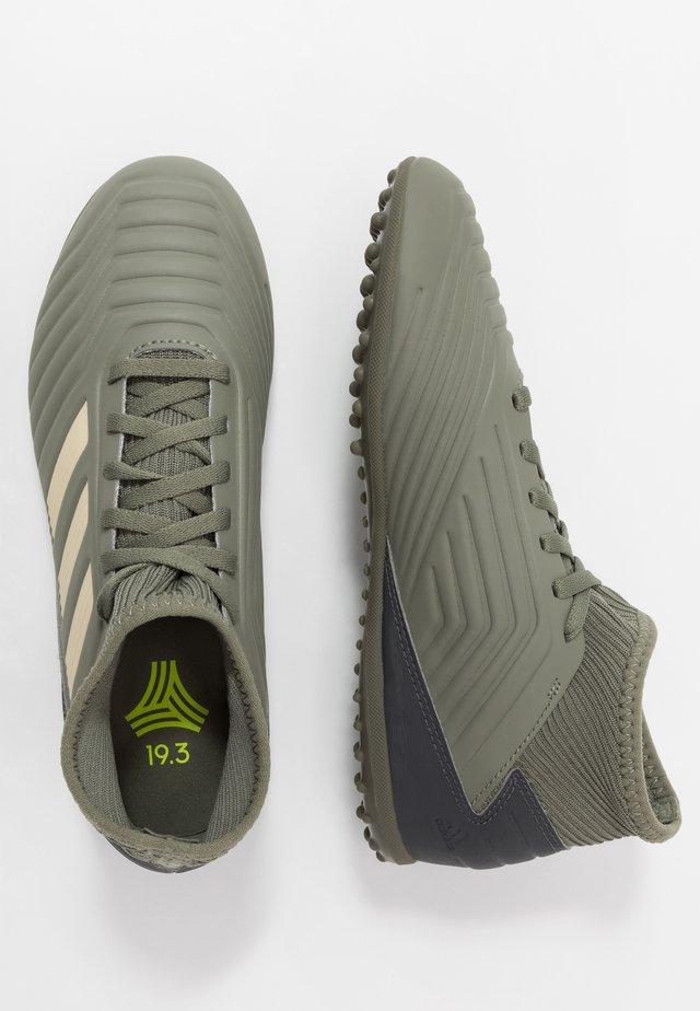 PREDATOR 19.3 TF - Voetbalschoenen voor kunstgras - legend green/sand/solar yellow