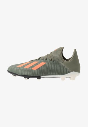 X 19.3 FG - Botas de fútbol con tacos - legend green/solar orange/white