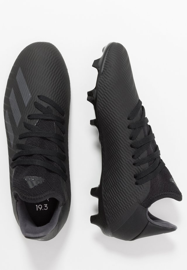 X 19.3 FG - Moulded stud football boots - core black/utility black/silver metalic