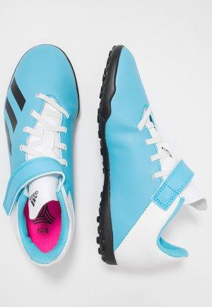 X 19.4 H&L TF  - Scarpe da calcetto con tacchetti - bright cyan/core black/shock pink