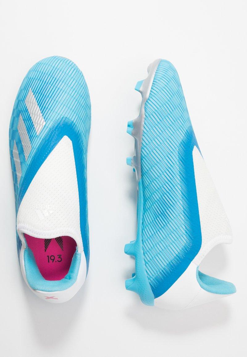 adidas Performance - X 19.3 LL FG - Voetbalschoenen met kunststof noppen - bright cyan/silver metallic/shock pink