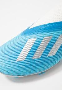 adidas Performance - X 19.3 LL FG - Voetbalschoenen met kunststof noppen - bright cyan/silver metallic/shock pink - 2