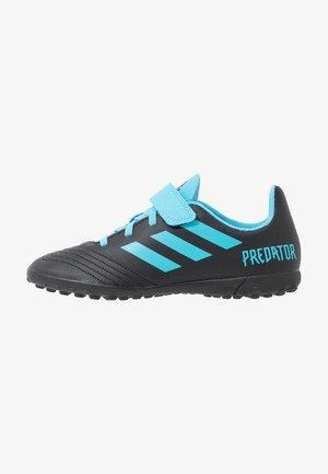 PREDATOR 19.4H&L TF - Chaussures de foot multicrampons - core black/bright cyan/solar yellow