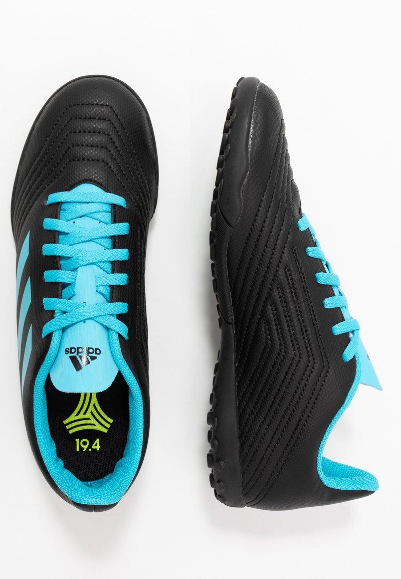 adidas Performance - PREDATOR 19.4 TF - Scarpe da calcetto con tacchetti - core black/bright cyan/solar yellow