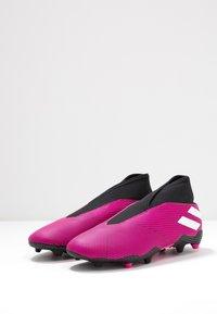 adidas Performance - NEMEZIZ 19.3 LL FG  - Voetbalschoenen met kunststof noppen - shock pink/footwear white/core black - 3
