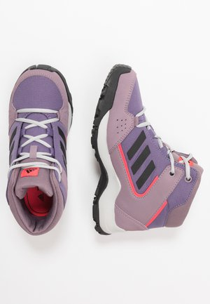 TERREX HYPERHIKER TRAXION HIKING SHOES - Hiking shoes - tech purple/core black/shock red