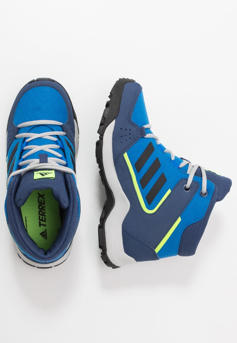 adidas Performance - TERREX HYPERHIKER TRAXION HIKING SHOES - Trekingové boty - glow blue/core black/signal green