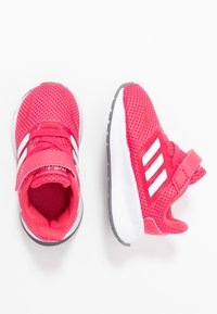 adidas Performance - RUNFALCON - Hardloopschoenen neutraal - real pink/footwear white/grey three - 0