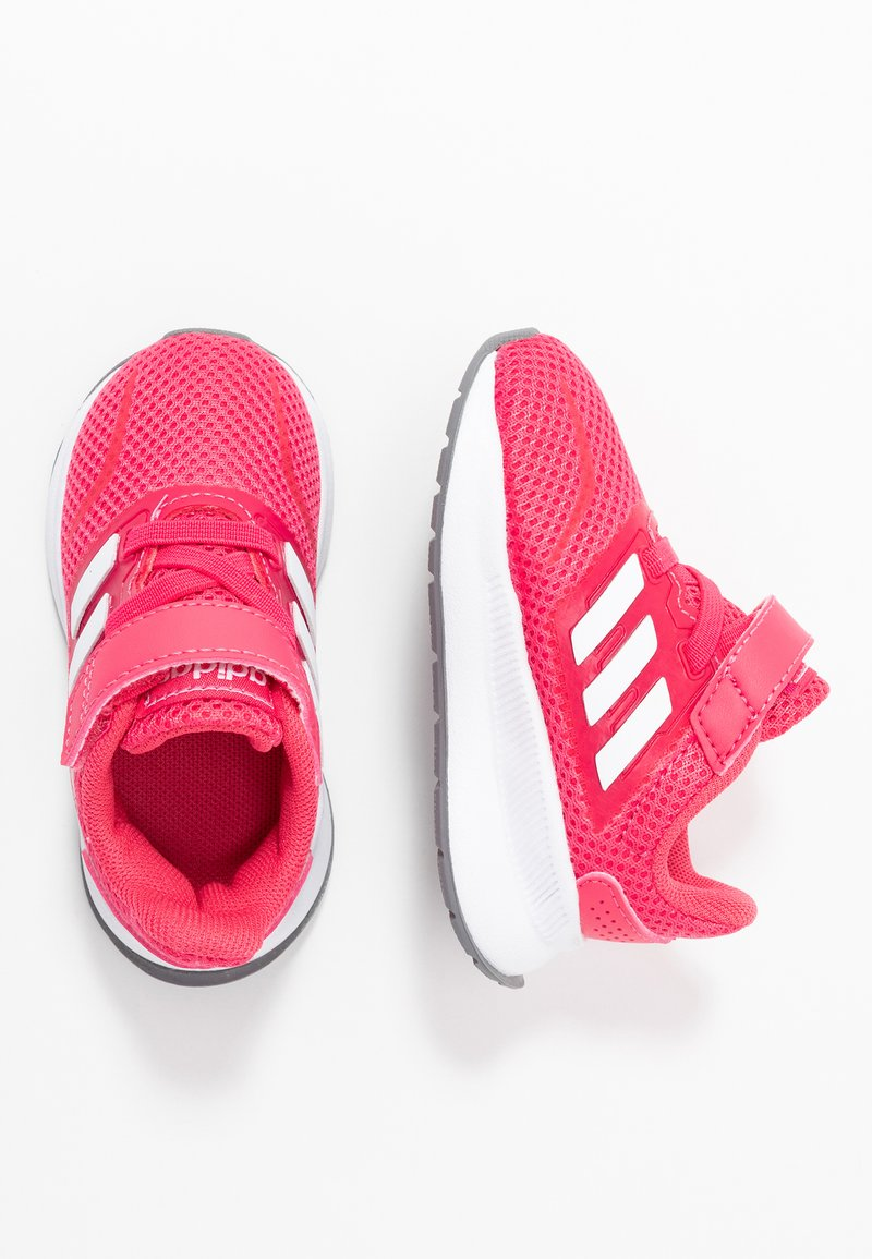adidas Performance - RUNFALCON - Hardloopschoenen neutraal - real pink/footwear white/grey three