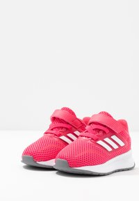 adidas Performance - RUNFALCON - Hardloopschoenen neutraal - real pink/footwear white/grey three - 3