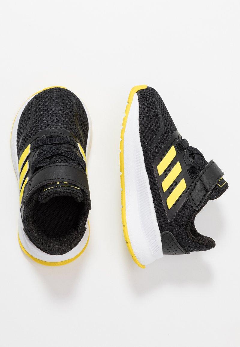 adidas Performance - RUNFALCON - Laufschuh Neutral - core black/shock yellow/footwear white