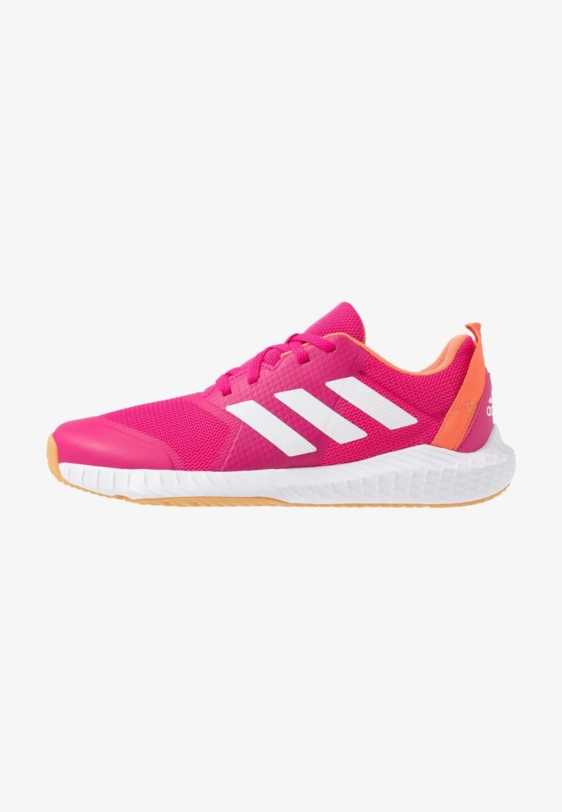 adidas Performance - FORTAGYM - Sports shoes - real magenta/footwear white/semi coral
