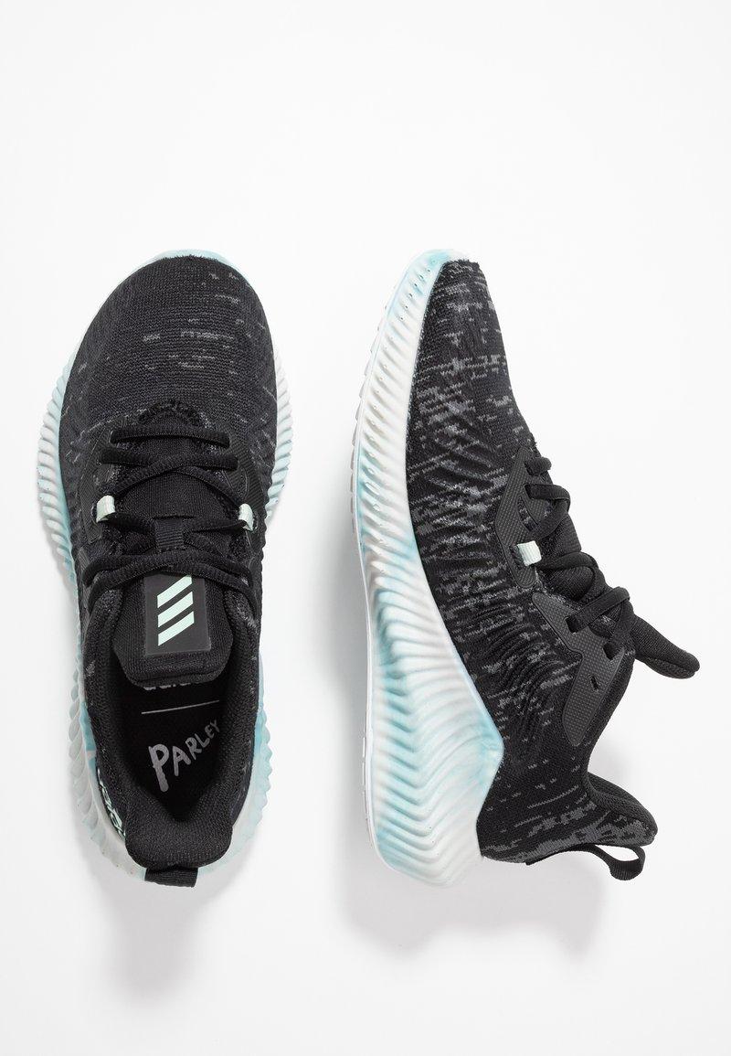 adidas Performance - ALPHABOUNCE+ PARLEY - Hardloopschoenen neutraal - core black/green/footwear white
