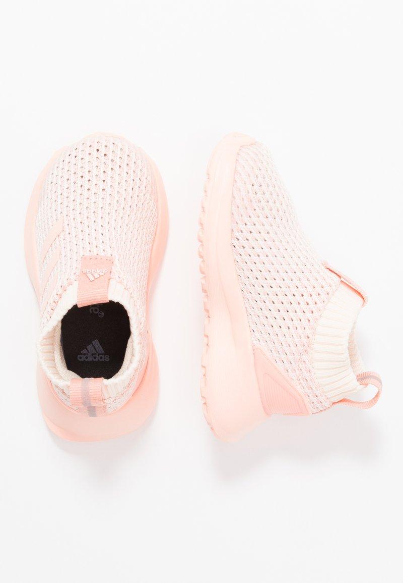 adidas Performance - RAPIDARUN LL KNIT I - Zapatillas de running neutras - ecru tint/glow pink