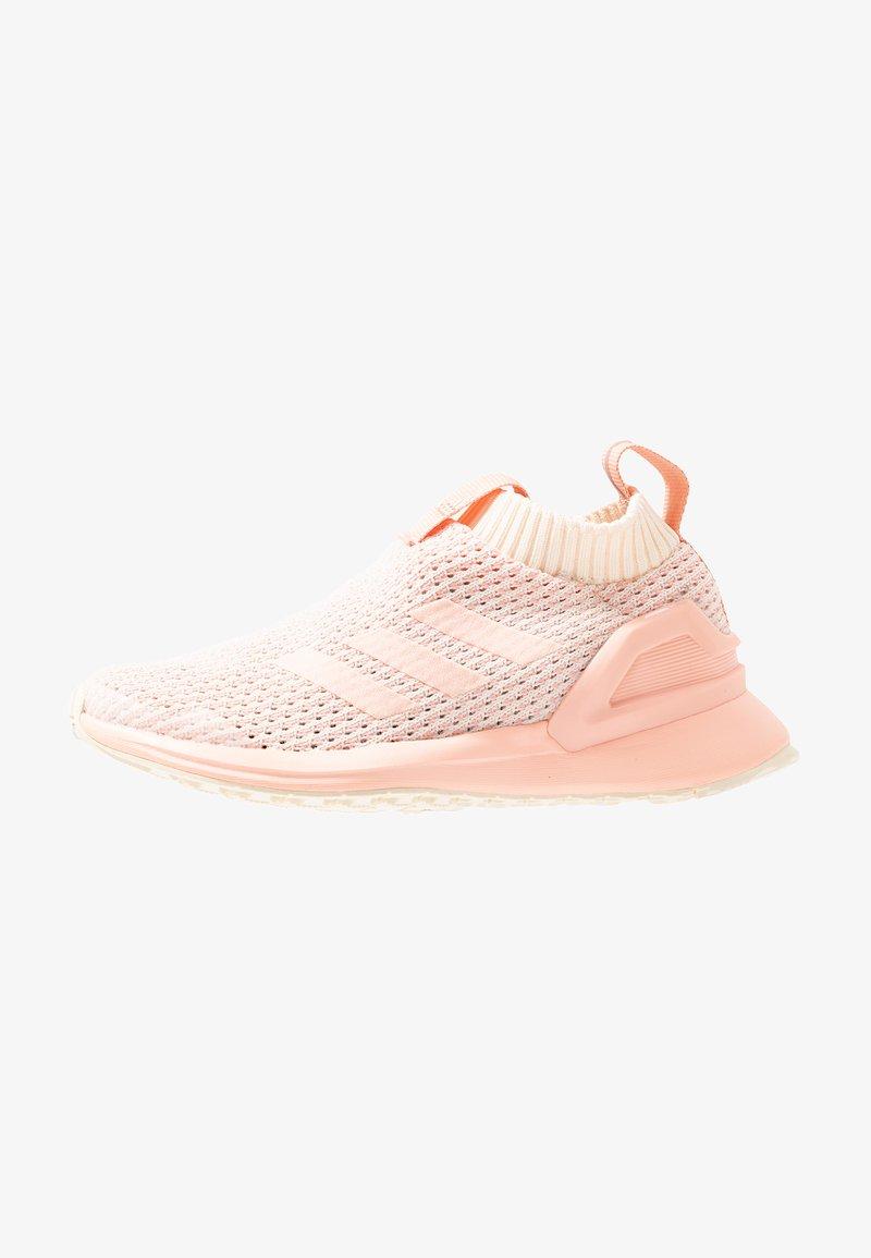 adidas Performance - RAPIDARUN LL KNIT - Neutral running shoes - ecru tint/glow pink