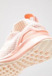 adidas Performance - RAPIDARUN LL KNIT - Neutral running shoes - ecru tint/glow pink - 5