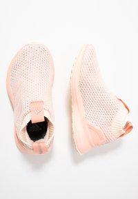 adidas Performance - RAPIDARUN LL KNIT - Neutral running shoes - ecru tint/glow pink - 1