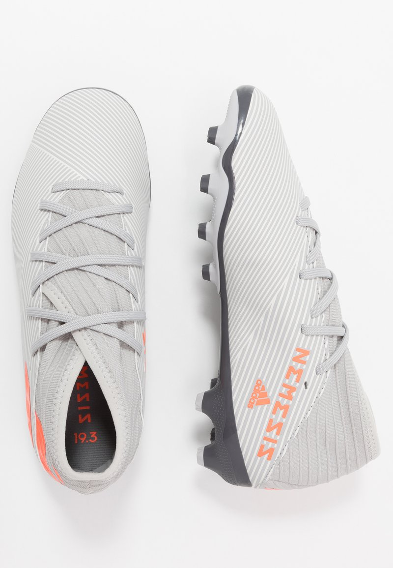 adidas Performance - NEMEZIZ 19.3 MG - Botas de fútbol con tacos - grey two/solar orange/core white