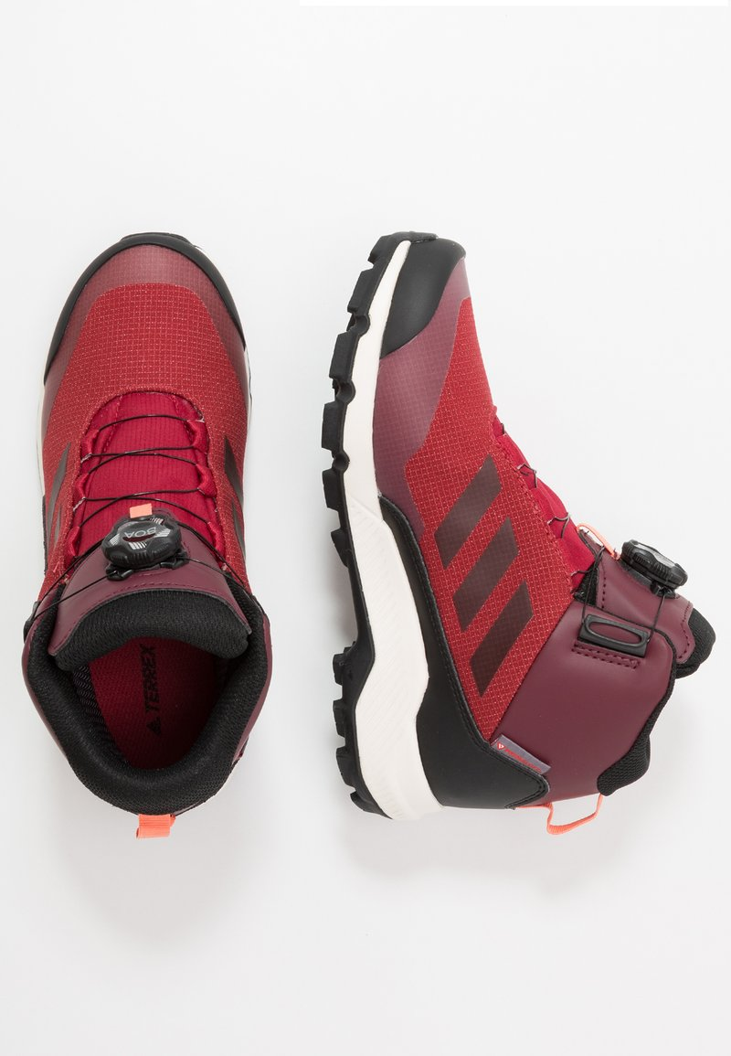 adidas Performance - TERREX WINTER MID BOA - Winter boots - active maroon/core black/semi coral