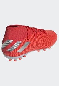 adidas Performance - NEMEZIZ 19.3 ARTIFICIAL GRASS BOOTS - Halówki - red - 3