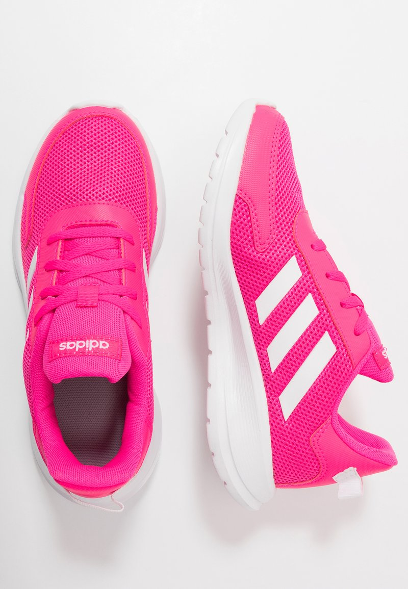 adidas Performance - TENSAUR RUN - Obuwie do biegania treningowe - shock pink/footwear white/light granite