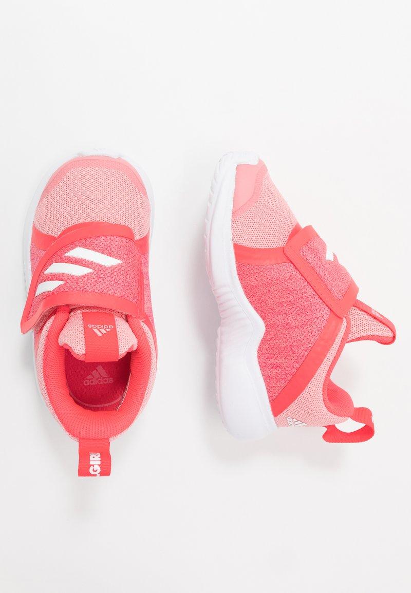 adidas Performance - FORTARUN X - Hardloopschoenen neutraal - glow pink/footwear white/shock red