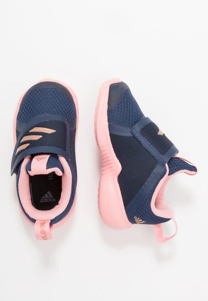 adidas Performance - FORTARUN X - Obuwie do biegania treningowe - tech indigo/copper metallic/glow pink