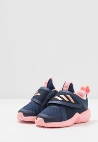 adidas Performance - FORTARUN X - Obuwie do biegania treningowe - tech indigo/copper metallic/glow pink - 3