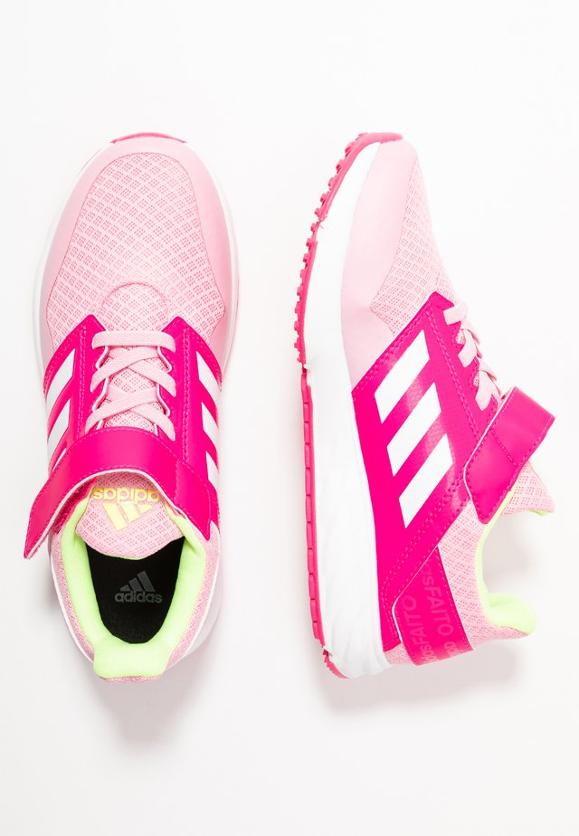 FORTAFAITO - Neutral running shoes - true pink/footwear white/shock pink