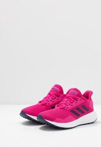 adidas Performance - DURAMO 9 - Chaussures de running neutres - real magenta/dark blue/footwear white - 3