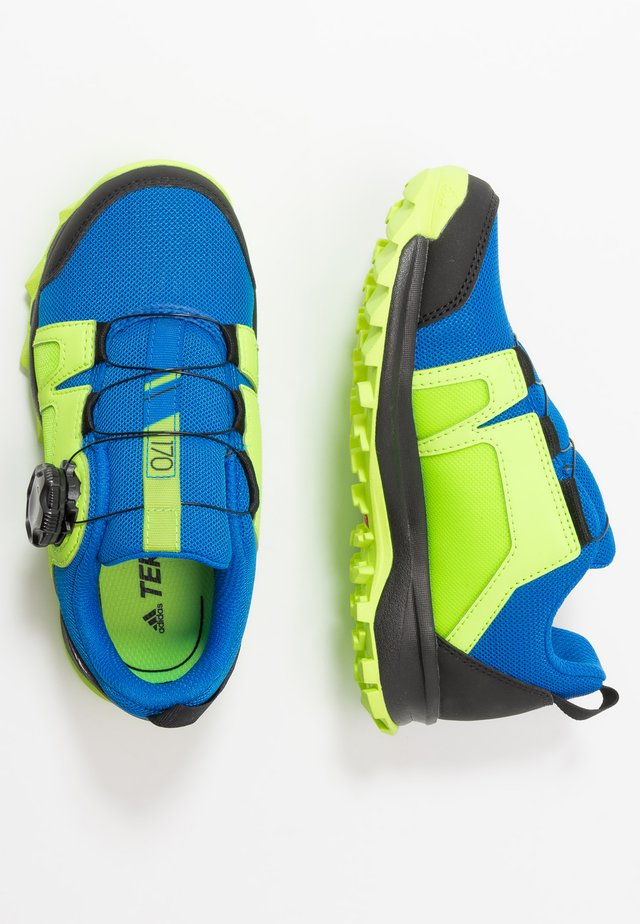 TERREX AGRAVIC BOA - Hiking shoes - glow blue/footwear white/signal green