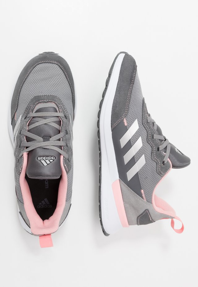 RAPIDARUN ELITE - Zapatillas de running neutras - grey three/silver metallic/glow pink