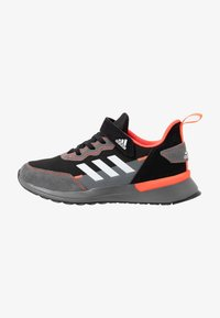 adidas Performance - RAPIDARUN CLOUDFOAM RUNNING SHOES - Neutral running shoes - core black/footwear white/solar red - 1