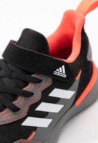 adidas Performance - RAPIDARUN CLOUDFOAM RUNNING SHOES - Neutral running shoes - core black/footwear white/solar red - 2