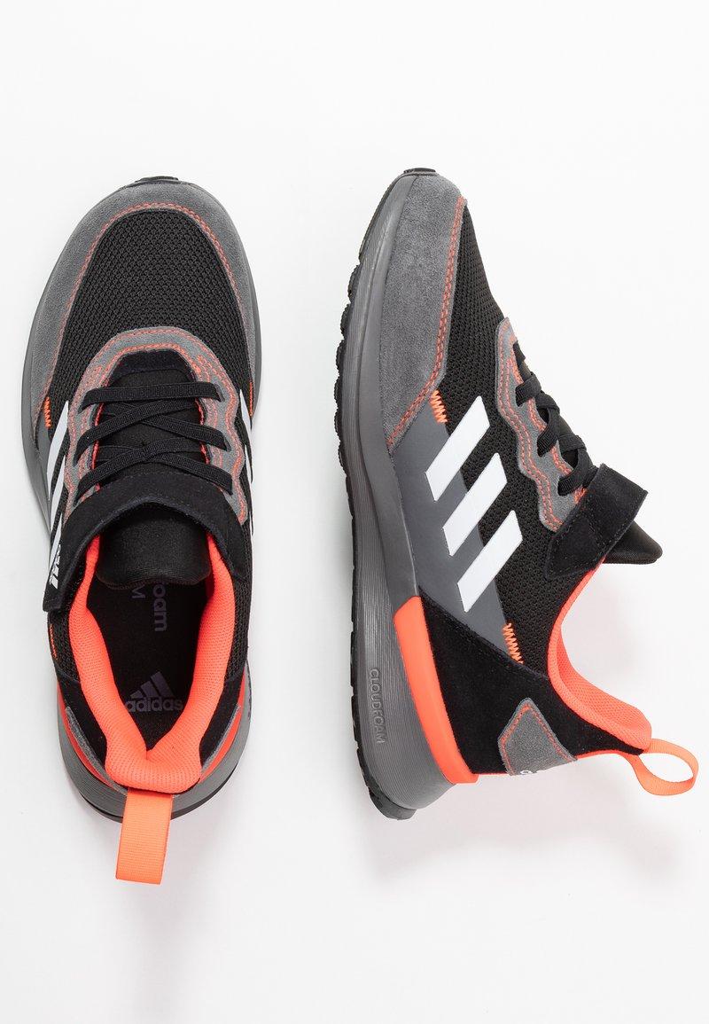 adidas Performance - RAPIDARUN CLOUDFOAM RUNNING SHOES - Neutral running shoes - core black/footwear white/solar red