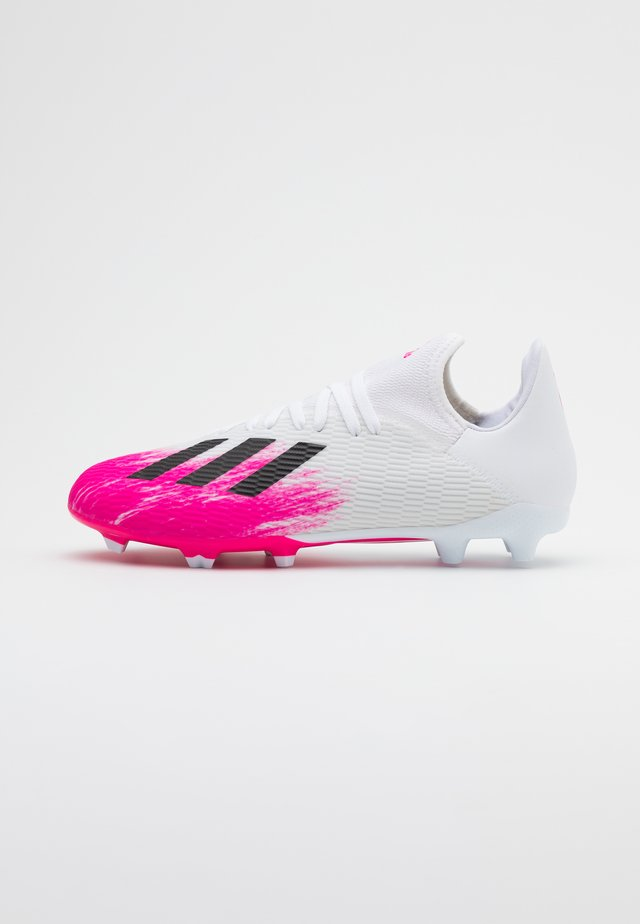 X 19.3 FG - Moulded stud football boots - footwear white/chalk white/shock pink