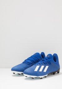 adidas Performance - X 19.3 FG - Voetbalschoenen met kunststof noppen - royal blue/footwear white/core black - 2