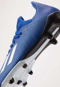 adidas Performance - X 19.3 FG - Korki Lanki - royal blue/footwear white/core black - 5