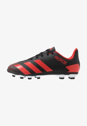 PREDATOR 20.4 FXG - Botas de fútbol con tacos - core black/active red