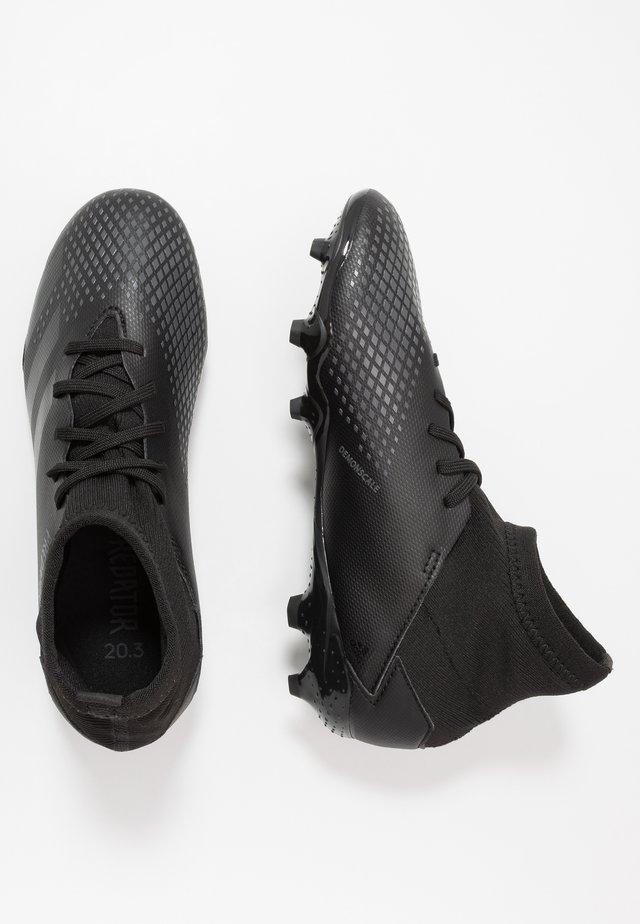 PREDATOR 20.3 FG - Fußballschuh Nocken - core black/solid grey