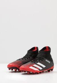 adidas Performance - PREDATOR 20.3 MG - Voetbalschoenen met kunststof noppen - core black/footwear white/core black - 3